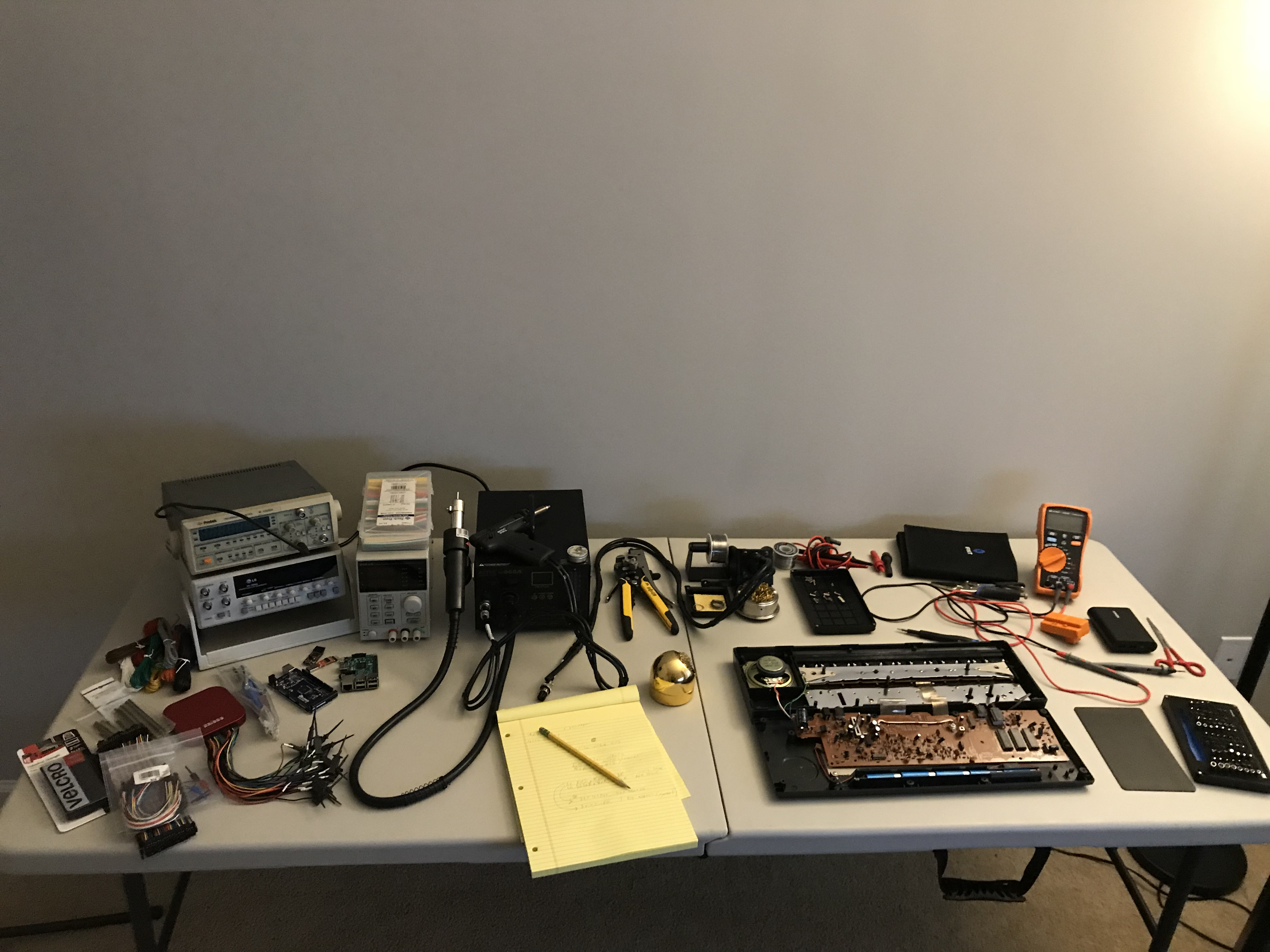 Reverse Engineering The Casio Sk 1 Part Dumping Rom Circuit Bending A Sk1 First Steps Set Up Bench And Break Thing Open